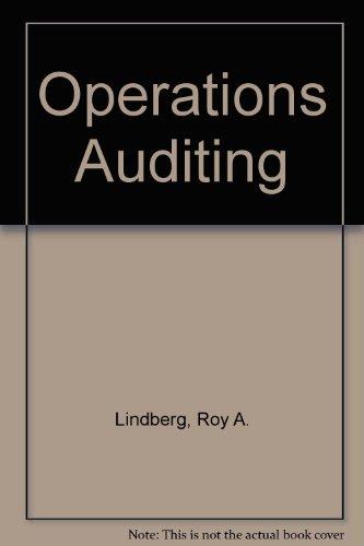 Operations Auditing,: Lindberg, Roy A.,