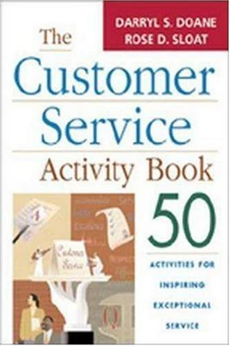 9780814472590: The Customer Service Activity Book: 50 Activities for Inspiring Exceptional Service