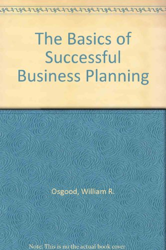 9780814475799: Basics of Successful Business Planning