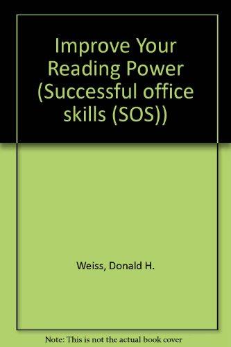 9780814476987: Improve Your Reading Power (Successful Office Skills)