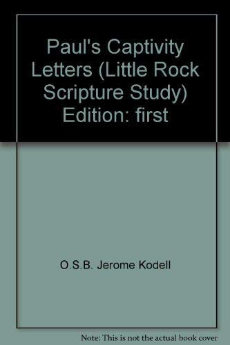 9780814616239: Paul's Captivity Letters: Study Guide (Little Rock Scripture Study for Adults)