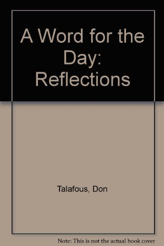 A Word for the Day: Reflections