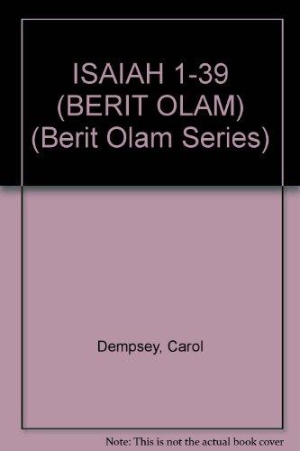 9780814650578: Isaiah 1 to 39 (Berit Olam Series)