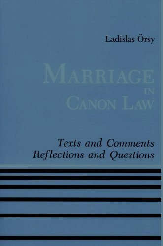 9780814656518: Marriage in Canon Law: Texts and comments; reflections and questions