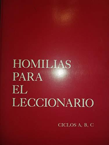9780814660744: Homilias Para El Leccionario, Ciclo A,B,C