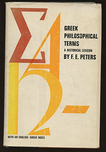 9780814703434: Greek Philosophical Terms: A Historical Lexicon