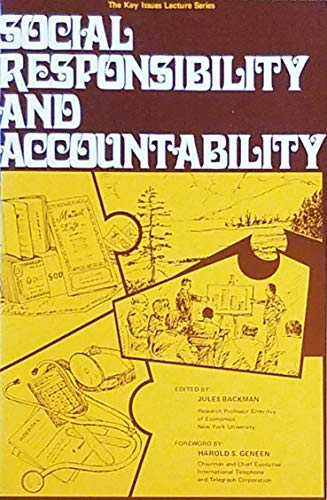 9780814710029: Social Responsibility and Accountability (Key issues lecture series)
