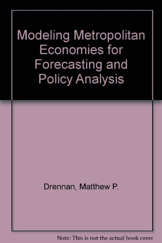 9780814717851: Modeling Metropolitan Economies for Forecasting and Policy Analysis