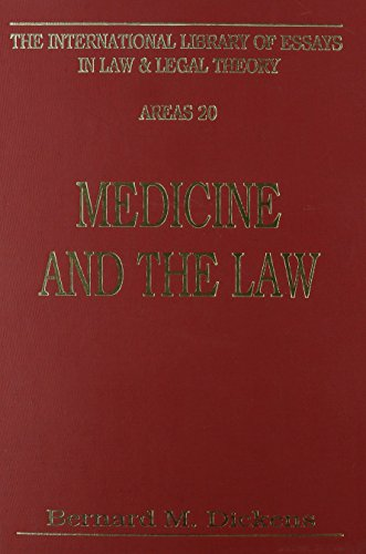 9780814718469: Medicine and the Law (International Library of Essays in Law and Legal Theory)