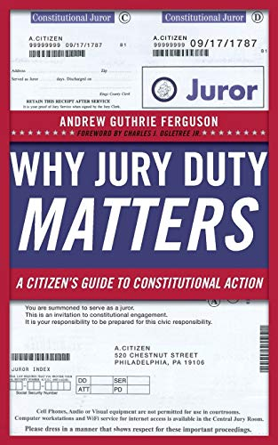 9780814729038: Why Jury Duty Matters: A Citizen's Guide to Constitutional Action