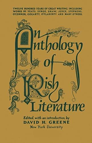 9780814729540: An Anthology of Irish Literature