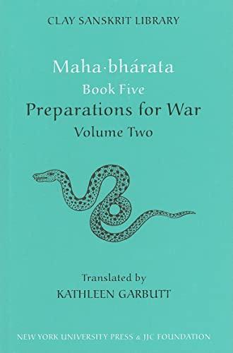 9780814732021: Mahabharata Book Five (Volume 2): Preparations for War (Clay Sanskrit Library)