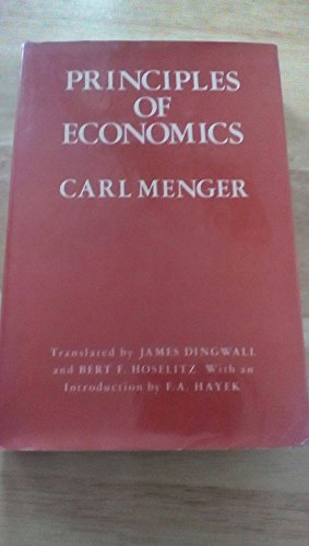 9780814753804: Principles of Economics (The Institute of Humane Studies series in economic theory)