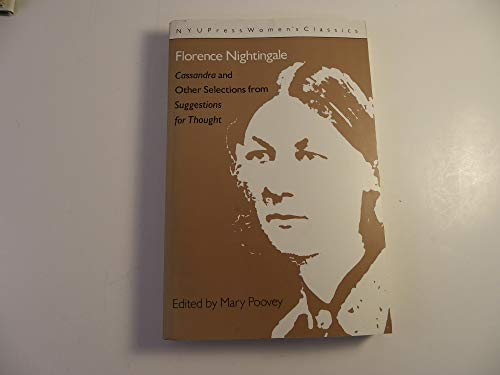 Florence Nightingale: 'Cassandra' and 'Suggestions for Thought' (Women's ...