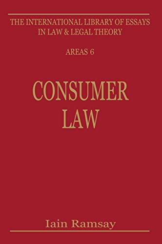 Consumer law.: Ramsay, Iain (ed.)