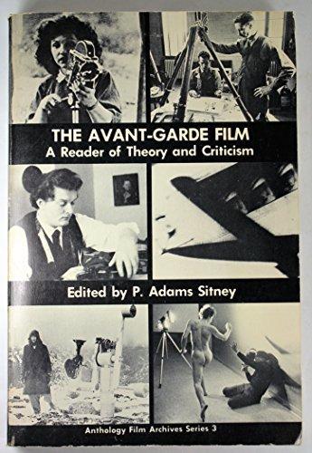 Avant-Garde Film (Anthology Film Archives 3): Sitney, P Adams