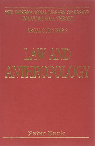 9780814779545: Law and Anthropology (International Library of Essays in Law and Legal Theory)