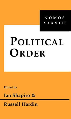 9780814780299: Political Order: Nomos XXXVIII (NOMOS - American Society for Political and Legal Philosophy)