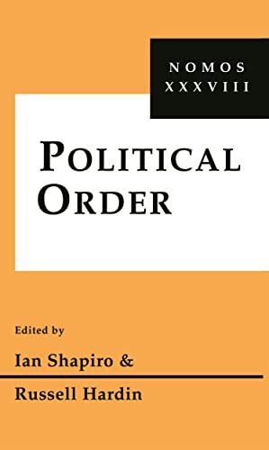 9780814781036: Political Order: Nomos XXXVIII (NOMOS - American Society for Political and Legal Philosophy)
