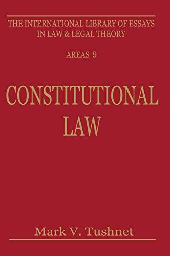 9780814781951: Constitutional Law (New York University Monographs in Biomedical Engineering Ser)