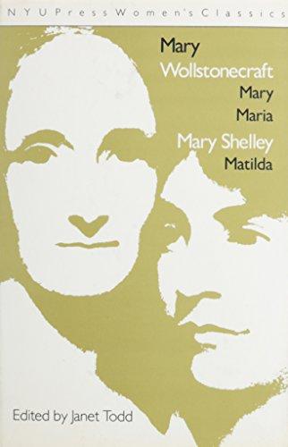 9780814792520: Mary & Maria & Mathilda CB (Nyu Press Women's Classics)