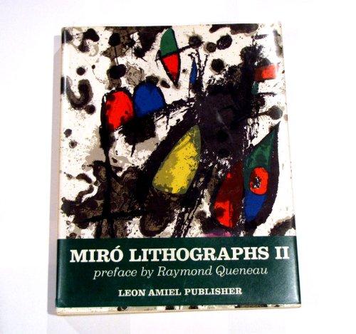 JOAN MIRO, LITHOGRAPHS: Volume II (2) (Two) Only: Miro, Joan/Queneau, Raymond (Preface)