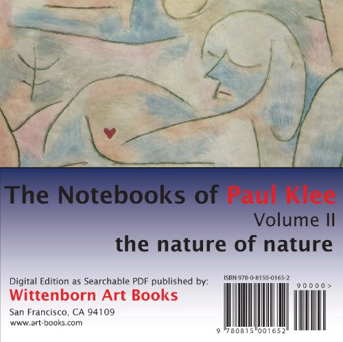 Paul Klee. The Notebooks of Paul Klee. Volume 2. The nature of nature.: Paul Klee