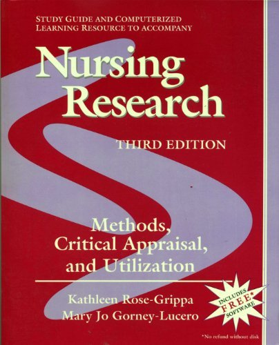 9780815156284: Study Guide to Accompany Nursing Research: Methods, Critical Appraisal, and Utilization