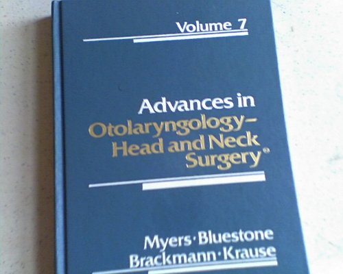 9780815162650: 007: Advances in Otolaryngology-Head and Neck Surgery