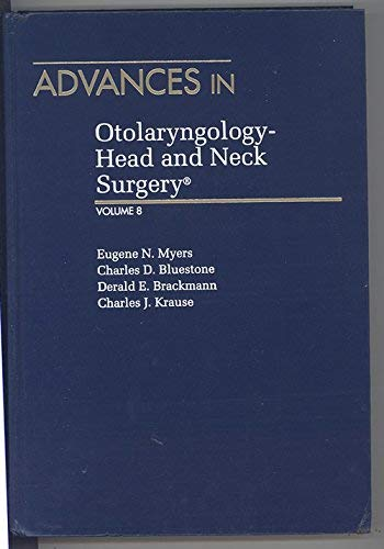 9780815162667: 008: Advances in Otolaryngology-Head and Neck Surgery (ADVANCES IN OTOLARYNGOLOGY-HEAD & NECK SURGERY)