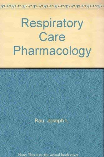 9780815170778: Respiratory Care Pharmacology