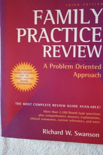 9780815186243: Family Practice Review: A Problem Oriented Approach