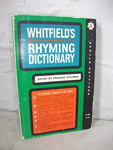 Whitfield's University Rhyming Dictionary: English Language Rime: Stillman, Frances