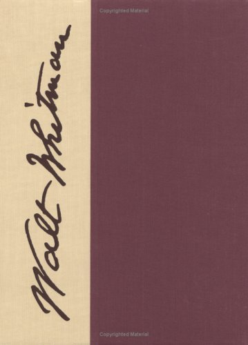 Whitman Manuscripts at the University of Virginia (The Walt Whitman Archive, Vol 3, Pt. 1-2): ...