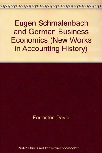 9780815312154: EUGEN SCHMALENBACH GERMAN (Routledge New Works in Accounting History)