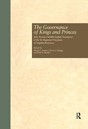 The Governance of Kings and Princes: John