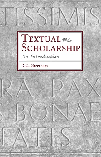 9780815317913: Textual Scholarship: An Introduction (Garland Reference Library of the Humanities)