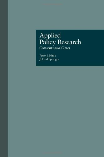 9780815320920: Applied Policy Research: Concepts and Cases (Garland Reference Library of Social Science)