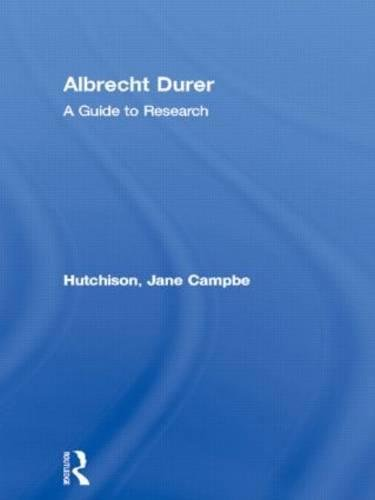 9780815321149: Albrecht Durer: A Guide to Research