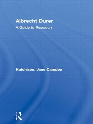 9780815321149: Albrecht Durer: A Guide to Research (Artist Resource Manuals)