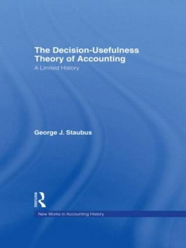 9780815334446: The Decision Usefulness Theory of Accounting: A Limited History (Routledge New Works in Accounting History)