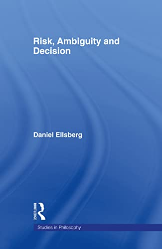 9780815340225: Risk, Ambiguity and Decision (Studies in Philosophy)