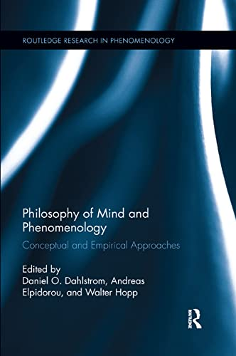 9780815371960: Philosophy of Mind and Phenomenology: Conceptual and Empirical Approaches