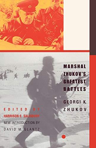 9780815410980: Marshal Zhukov's Greatest Battles