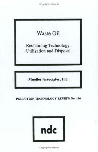 9780815511939: Waste Oil: Reclaiming Technology, Utilization and Disposal (Pollution Technology Review)