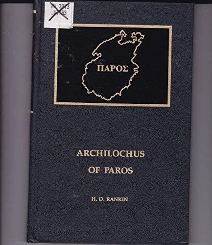 9780815550532: Archilochus of Paros (Noyes Classical Studies)