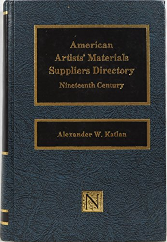 9780815550648: American Artists' Materials Suppliers Directory (The Conservation Series)