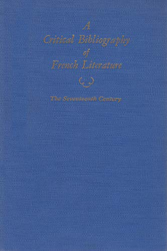 Critical Bibliography of French Literature (Hardcover)