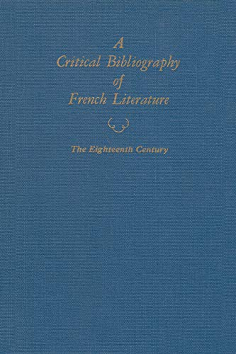 A Critical Bibliography of French Literature (Hardcover): Cabeen