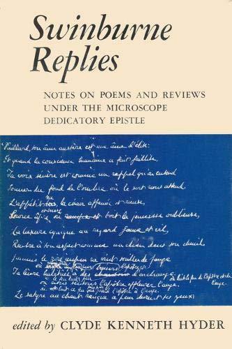 Swinburne Replies (Paperback): Hyder